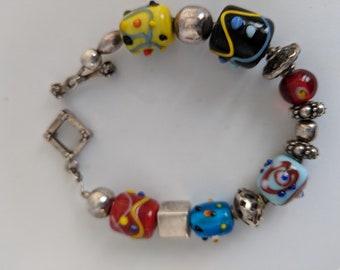 Beautiful Retired Silpada charm bracelet-FREE SHIPPING US