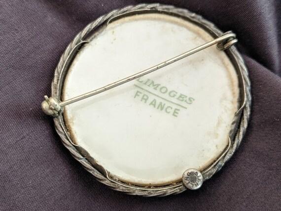 Antique Victorian Limoges Brooch-France - image 2