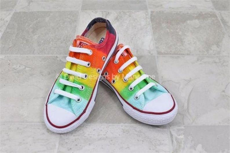Chuck Taylor All Stars Converse low top shoes rainbow twist  b305f00ab