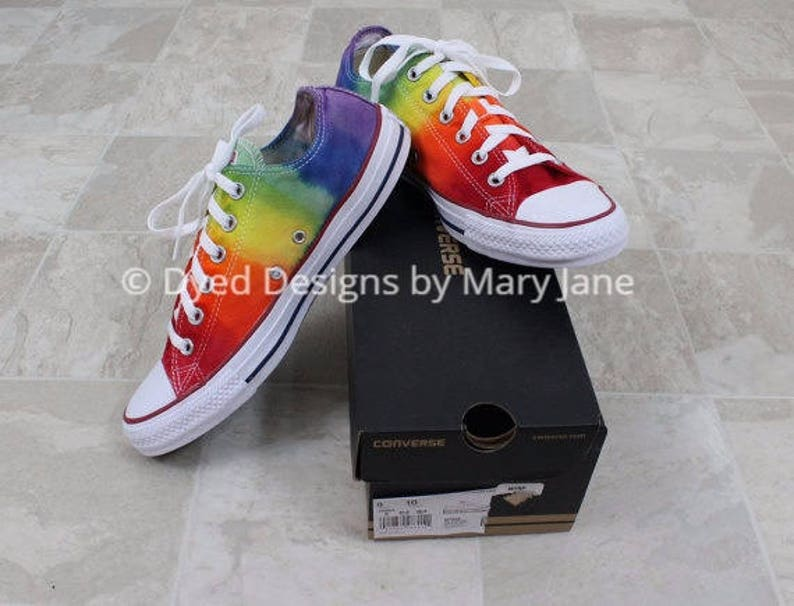 d1468c71e614 Chuck Taylor All Stars Converse low top shoes rainbow dyed