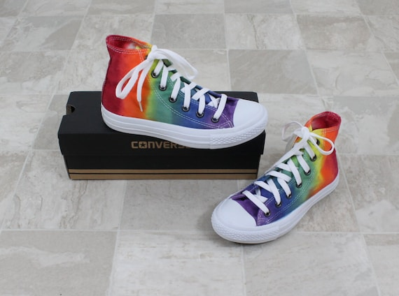 Chuck Taylor All Stars, Converse high top shoes, rainbow converse, converse  running shoes, converse all star, hand dyed converse