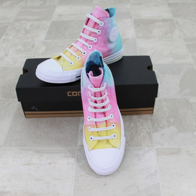 608595f1b396 Counter Climate Converse Converse high top shoes hand dyed
