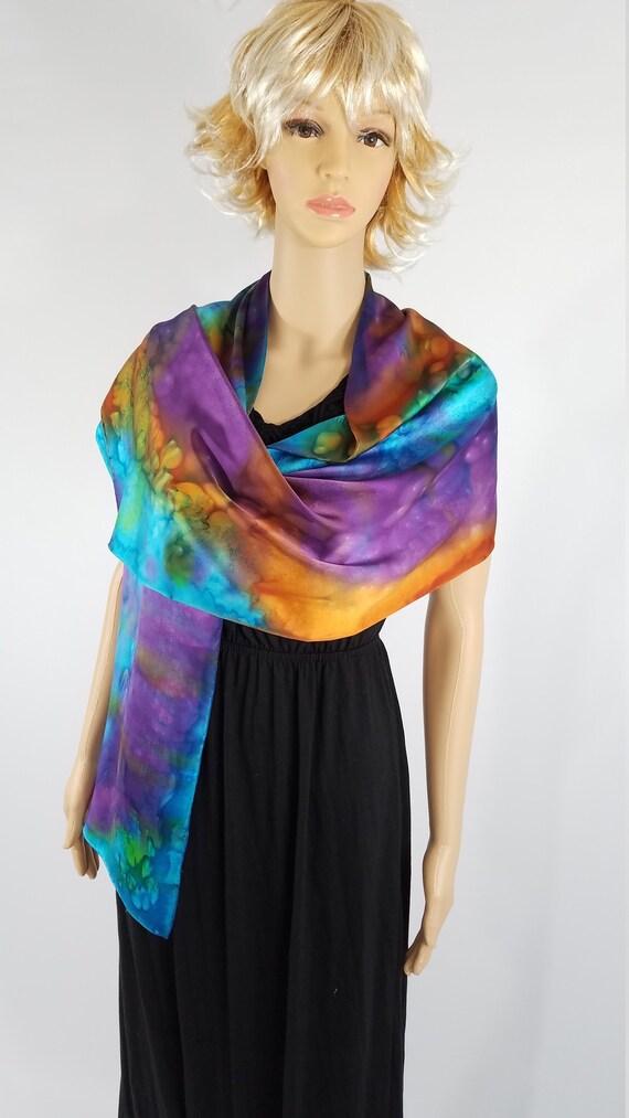 09a9c56a07a3 Charmeuse foulard en soie 14 x 72 Multi couleur   Etsy