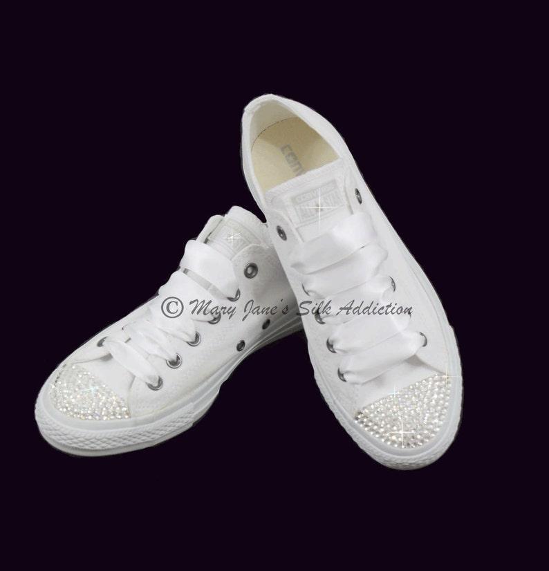 5cd11bbf0d54 Wedding Converse Trainers-Converse Swarovski Crystal-Converse