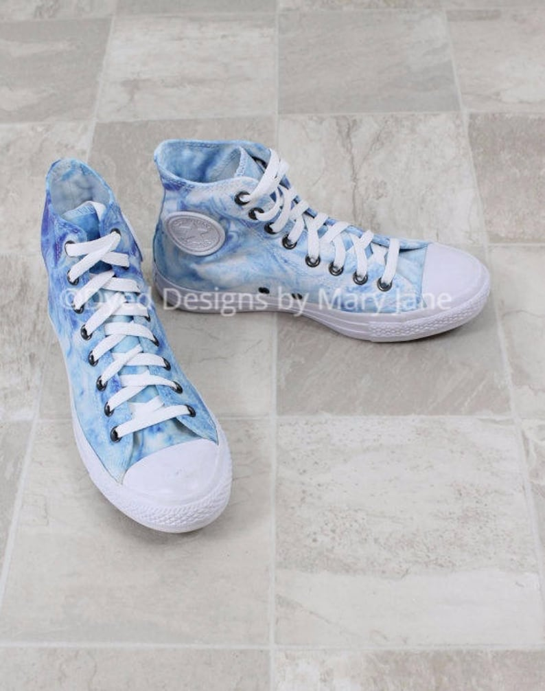 Chuck Taylor All Stars Dyed Converse  shoes blue marble image 0