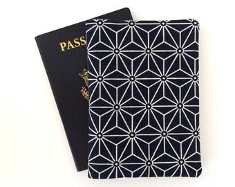 Passport holder women, Passport cover, Blue passport wallet, Traveler gifts for women, Travel accessories, Travel gift, Indigo, Japanese