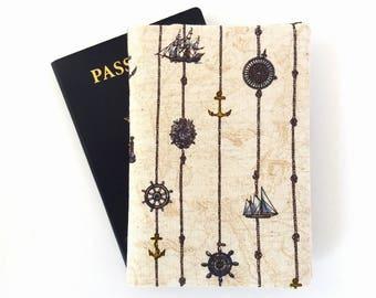 Passport cover, Men, Passport wallet, His passport holder, Nautical Passport cover for 2, Family passport holder, Marine Gift for man Anchor