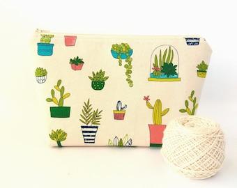 4e6e3034f1eb Cactus makeup bag | Etsy