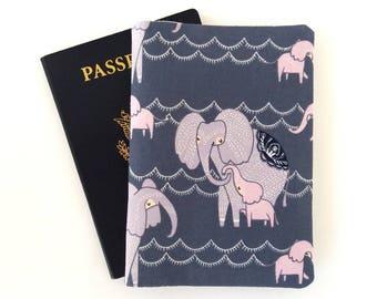Elephant passport holder, Passport cover, Passport wallet, Baby passport cover, Travel gift Travel accessories Traveler gifts, Pink elephant