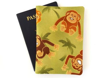 Passport cover, Monkeys, Passport holder, Children, Passport wallet, Child traveler gift, Cute travel gift, Kawaii, Fun travel accessories