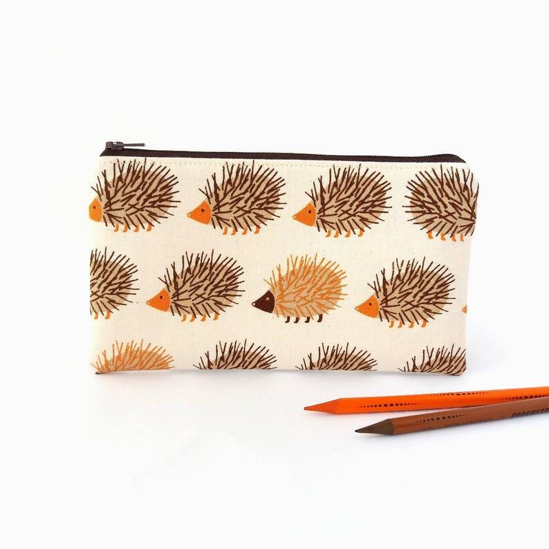 d33ba95792ad Hedgehog pencil pouch, Boy pencil bag, Zipper pouch, Cute wallet, Mini  purse, Makeup bag, Carry all pouch, Porcupine gift for children