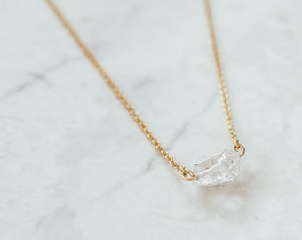 Herkimer Diamond Pendant Necklace, Herkimer Diamond Necklace, Herkimer Necklace, Herkimer Diamond, Herkimer, Crystal Necklace, Diamond