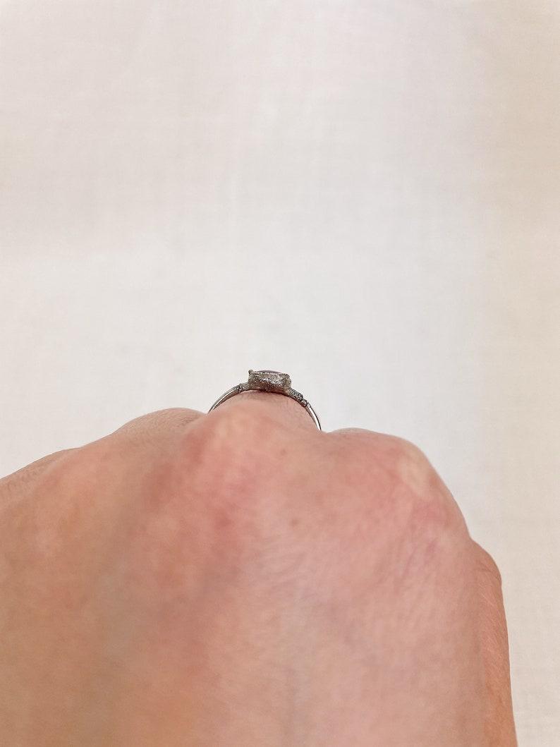 Amethyst Ring Silver Amethyst Ring Amethyst Ring Size N 12 Electroformed Amethyst Ring