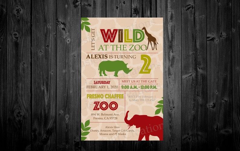 Zoo Invitation Birthday