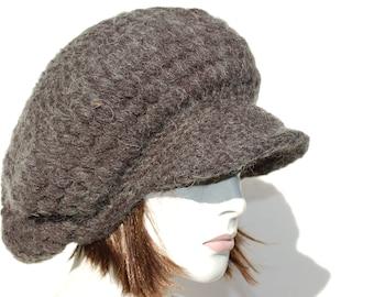 1b59ff398a0 Knitted Newsboy Hat-Knit Hat Women-Winter Chunky Hat-Oversized Chunky Hat-Wool  Chunky Hat-Oversized Hat-Chunky Knit Hat-Chunky Hat Slouchy