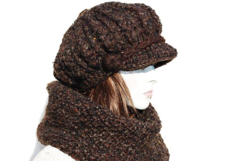 8e1d400902f Hat Scarf Set Women-Winter Chunky Hat-Knit Newsboy Hat-Chunky