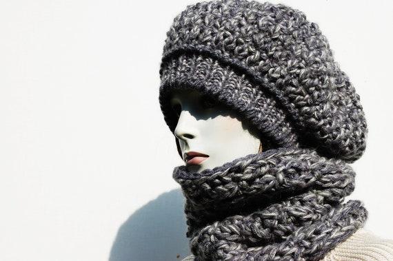 19e9bfdb88a1 Bonnet écharpe ensemble femmes-femmes-tricot col tricot bonnet   Etsy