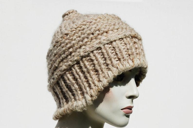 5a93baf29ca Earflap Chunky Hat-Womens Beanie-Trapper Hat-Handknit