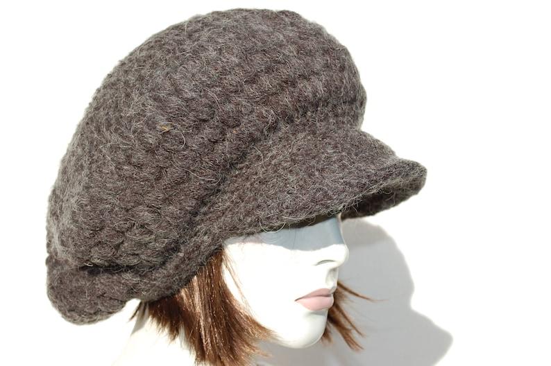 00317cb1413 Knitted Newsboy Hat-Knit Hat Women-Winter Chunky Hat-Oversized
