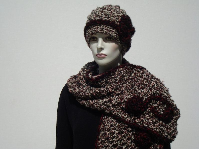Slouch Beanie-Knit Shawl-Slouchy Beanies-Oversized Scarf-Chunky Hat-Scarf Wrap Oversized-Slouch Beanie Hats-Knit Eternity Scarf-Chunky Hat