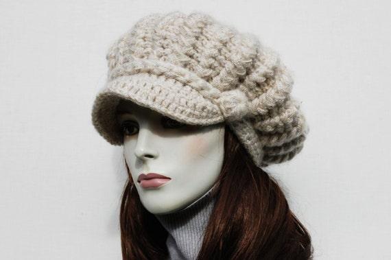 Schiebermütze Hut Lässige Mütze Damenmütze Balloon Häkeln Etsy