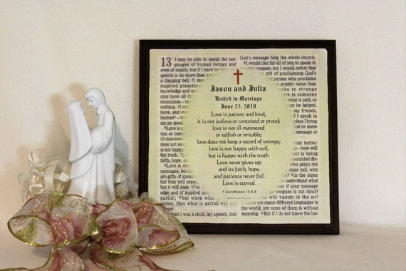 Wedding Gift Personalized Marriage Scripture Prayer For Etsy