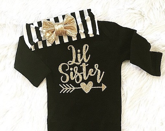 Baby Girl Clothes, Baby Girl Outfit, Newborn Coming Home Outfit, Little Sister