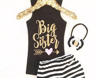 Girls' Clothing Sets, Big Sister Outfit, Big Sister, Coming Home Outfit, Little Sister