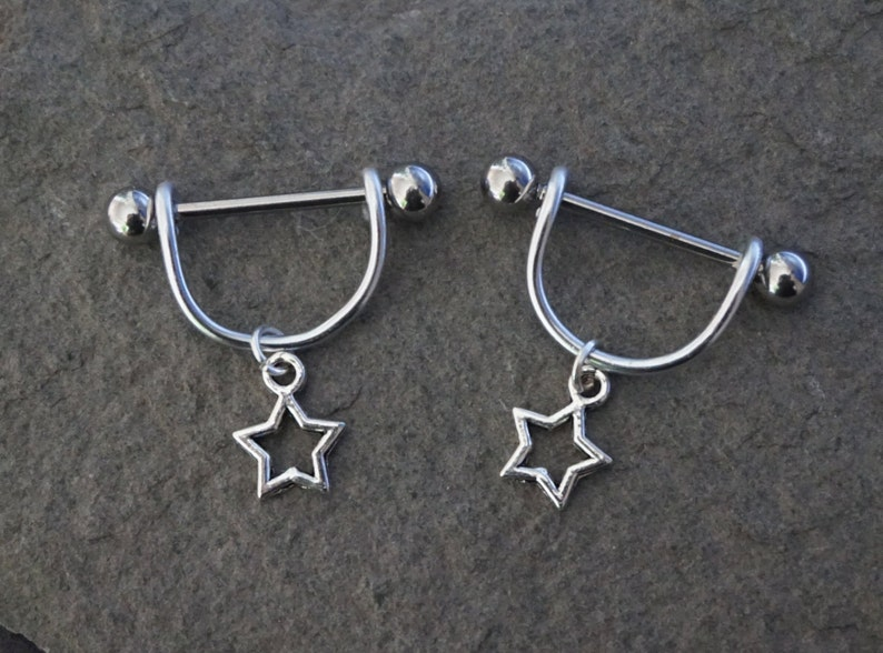 Bar Barbell Charming Body Piercing Surgical Steel Nipple Shield Ring Jewelry