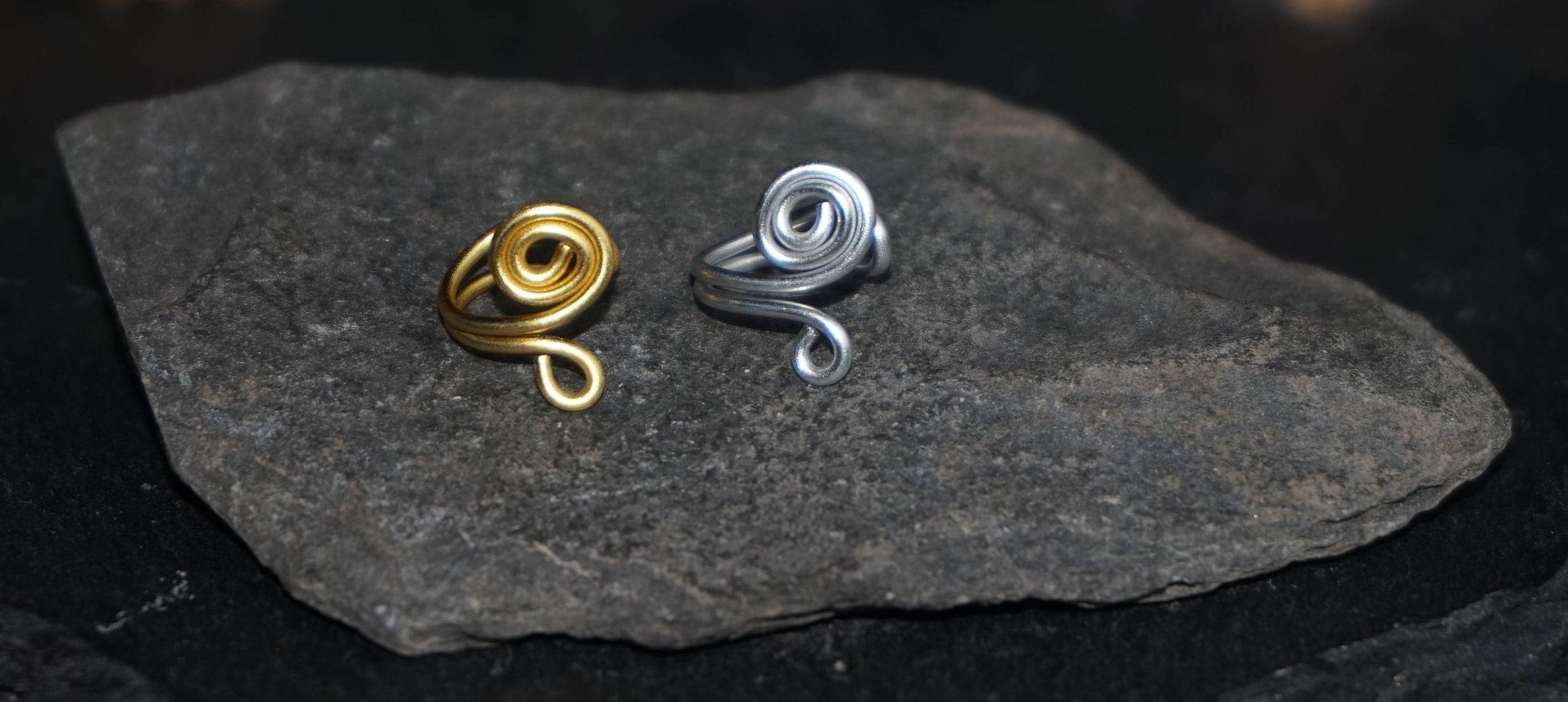 Hübsche gold oder Silber Ohr Manschette doppelt Wirbel