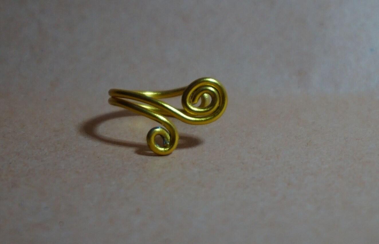 Hübsche gold Ohr Manschette doppelt Wirbel Tragus/Knorpel
