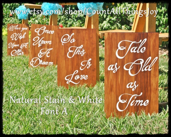 Custom DISNEY Wedding Aisle Signs Set Of 60 Love Quotes For Etsy Beauteous Disney Wedding Quotes