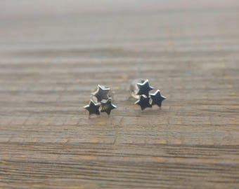 STAR EARRINGS - 925 Sterling Silver Earrings // Delicate Silver Earrings // Star Earrings // Dainty Jewelry