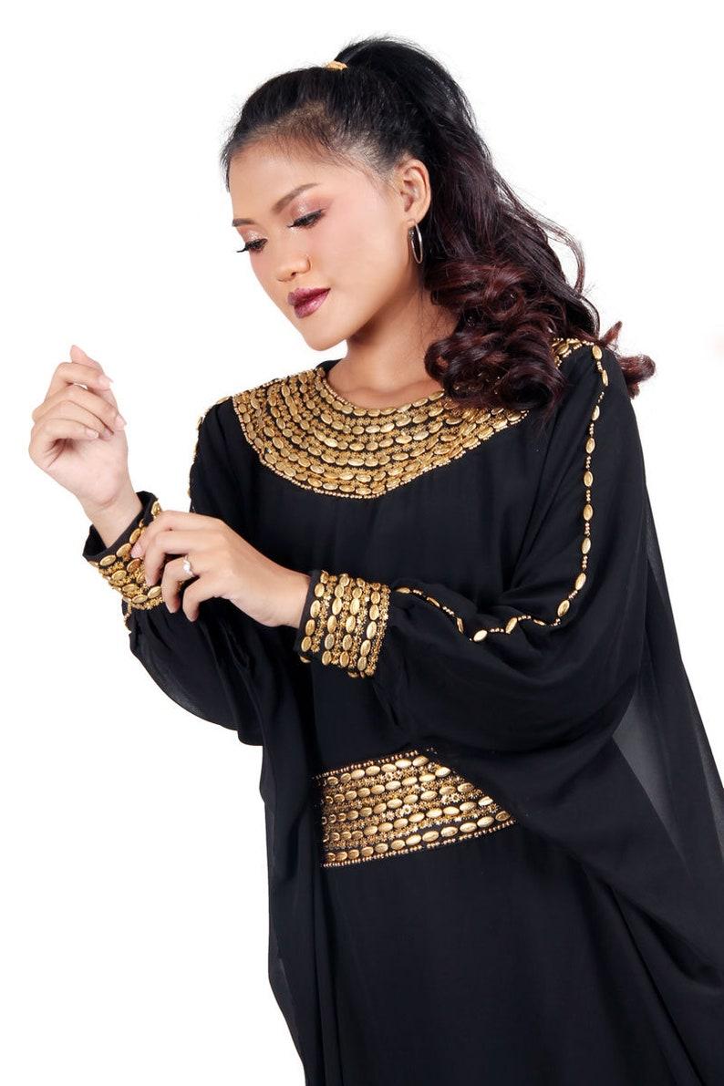 de612a0587 Quiz Black And Gold Embellished Maxi Dress