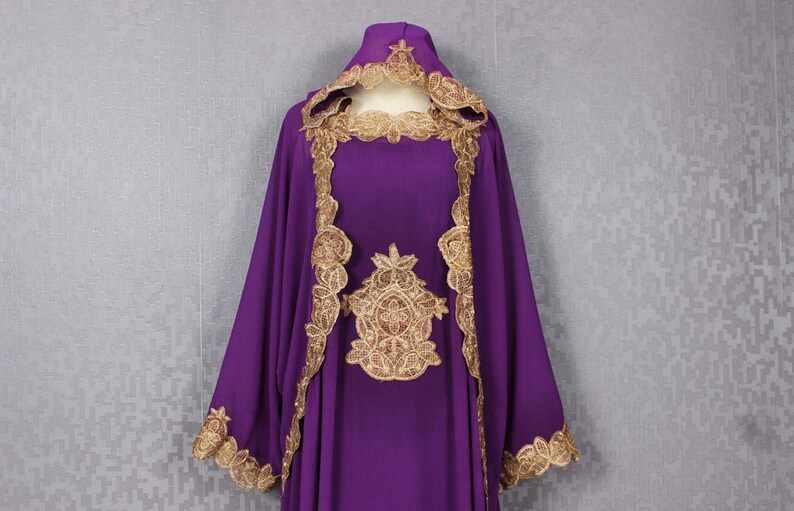 f5ef9b88d37 Fancy Gold Embroidery Great for Wedding Bridesmaid Purple