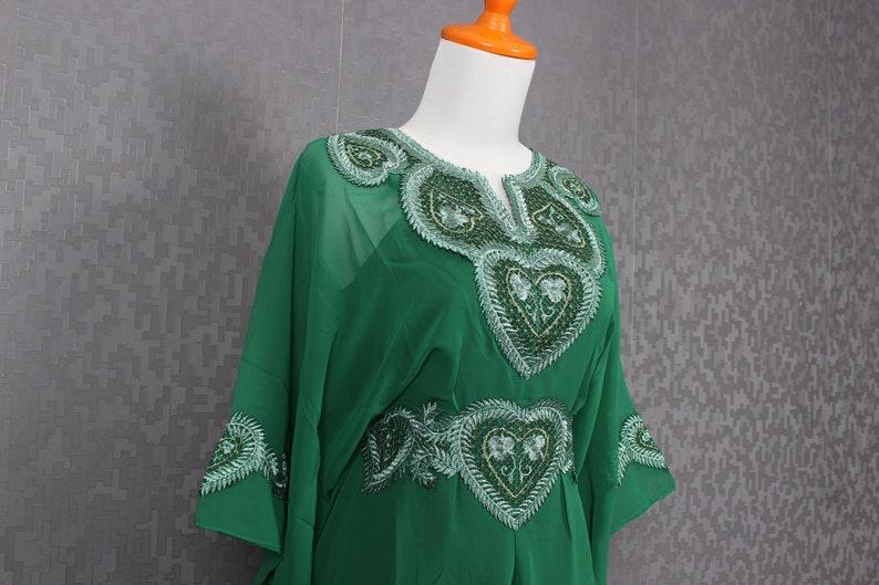 536775fa958 Green Blouse For Women Embroidery Kaftan Blouse Fancy Green | Etsy