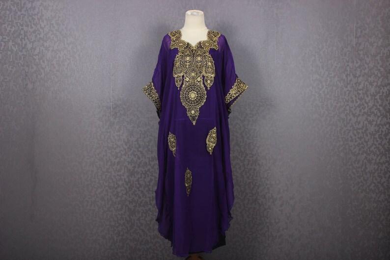 fd6d29d6a7f Fancy Purple Kaftan Womens Caftan Wedding Spring Summer