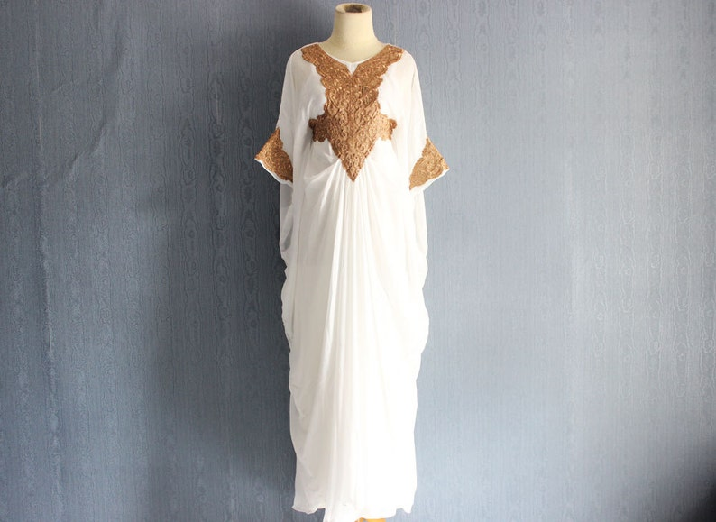 7f3e2afbcb White Moroccan Kaftan Maxi Dress Dubai Abaya Caftan With