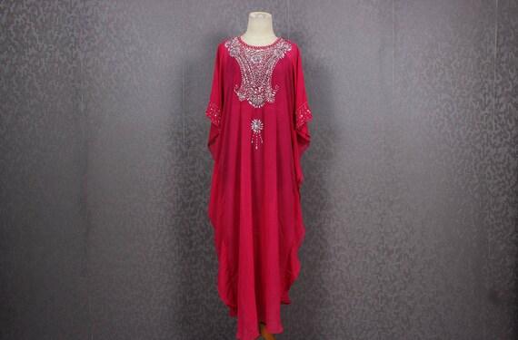 89cfbf76331 Pink Evening Gown Very Fancy Sequin Caftan Dress Long Dress