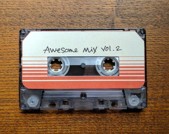 Awesome Mix Vol. 2 cassette prop replica