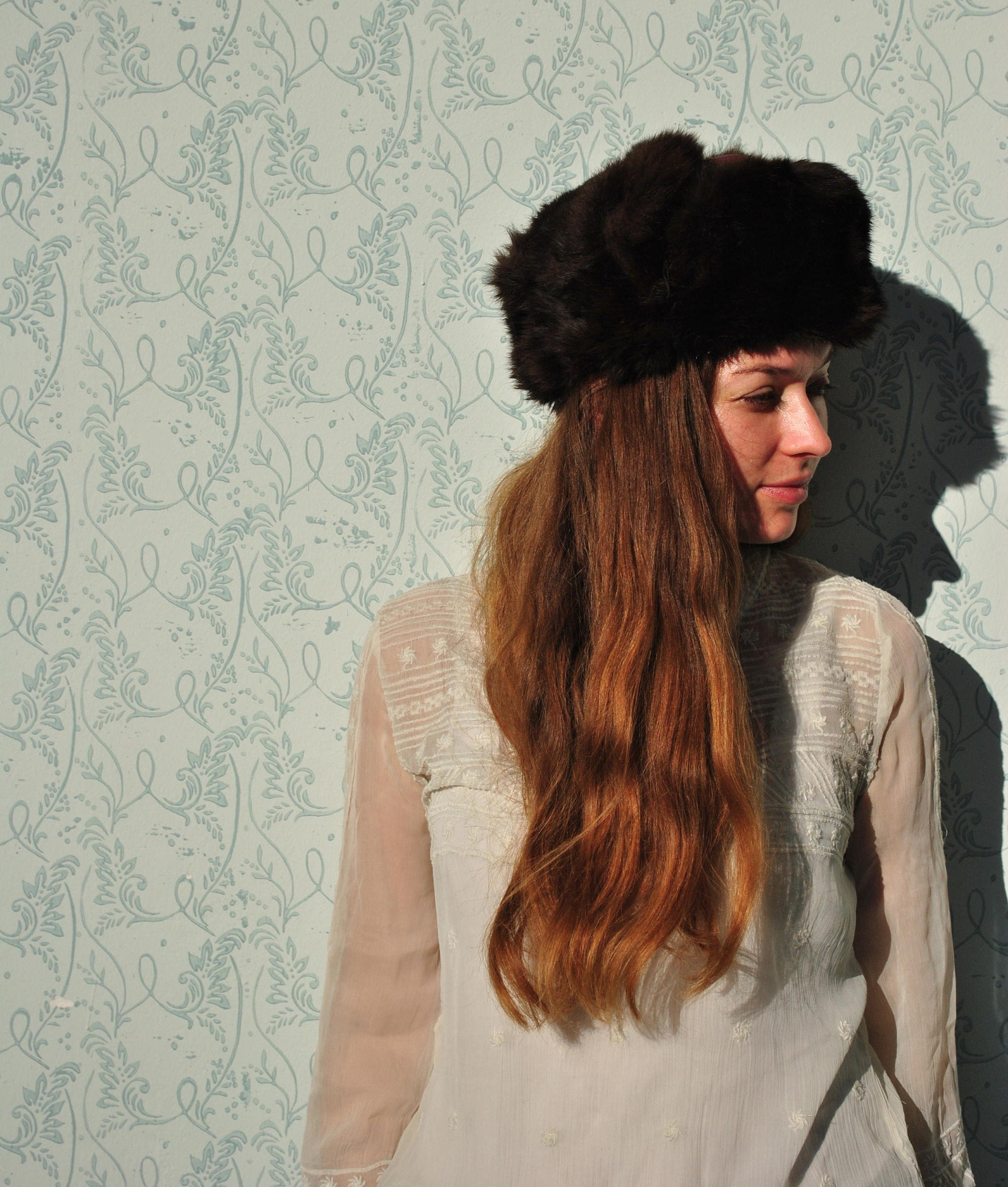 Winter hat fur trapper hat vintage fur trapper hat Russian  2102932edbac