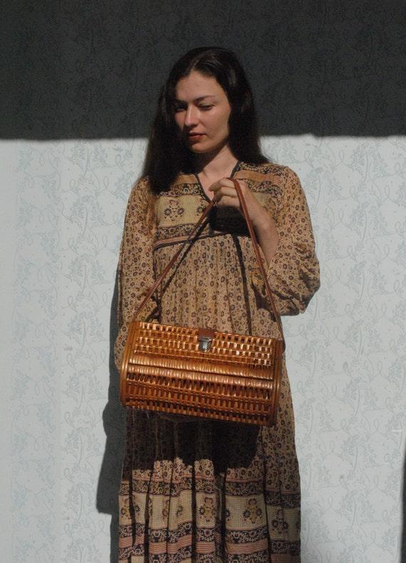 Wicker bag, wicker purse, large wicker handbag - image 4