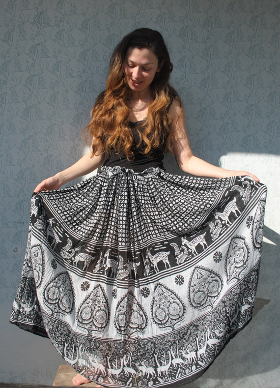 Maxi skirt, maxi skirt for women, Indian maxi ski… - image 4