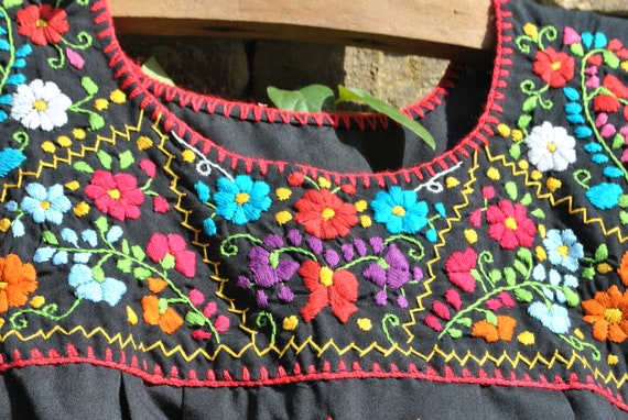 Mexican embroidered blouse, Mexican dress, Mexican