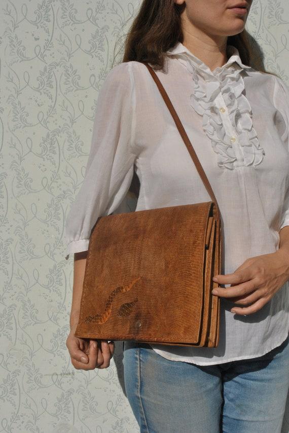 Snakeskin purse, snakeskin bag, handmade bag, brow