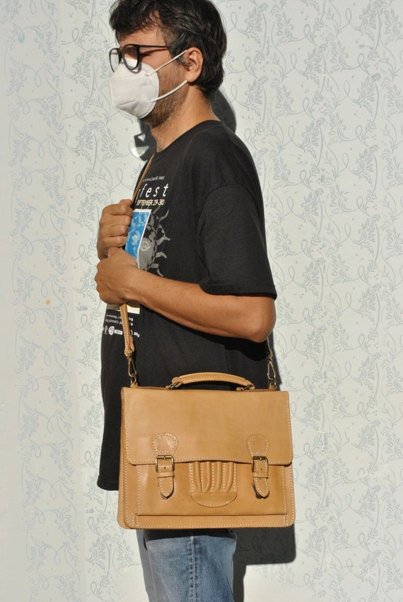 Messenger bag, crossbody bag, leather laptop bag