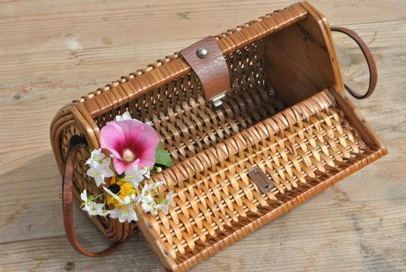 Wicker bag, wicker purse, large wicker handbag - image 9