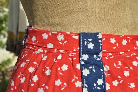 Cottagecore skirt, vintage 70s praerie cotton ski… - image 5