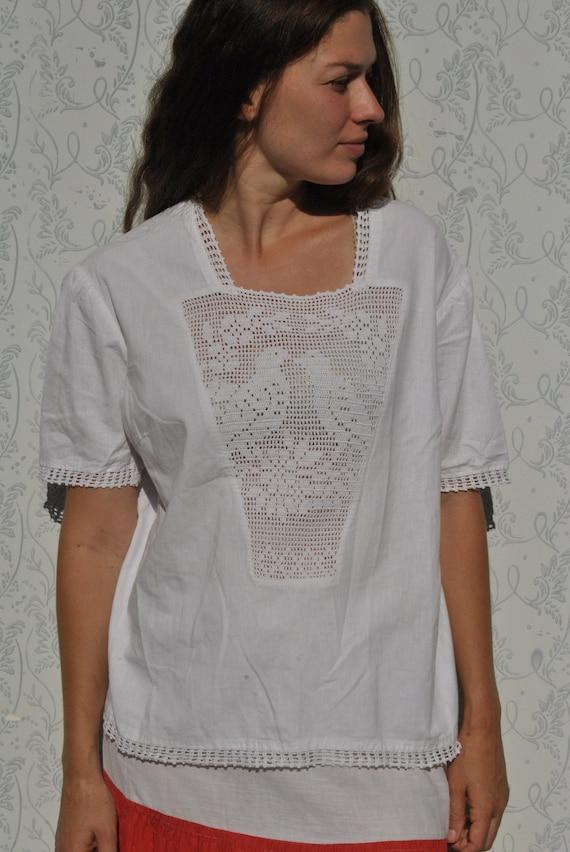Crochet blouse, handmade blouse, vinatge crochet … - image 7