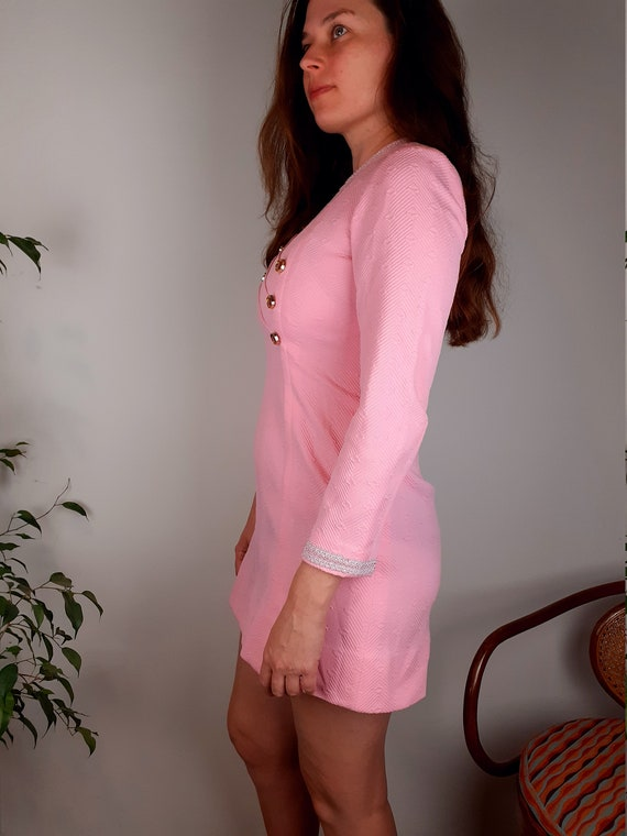 60s mod dress with long sleeves
